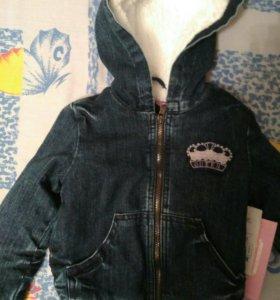 Новая джинсовая куртка 1.5-2 года