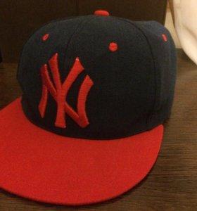 Бейсболка New York красно-синяя