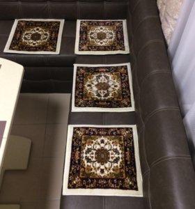 Сидушки-коврики шерстяные на стулья или в авто