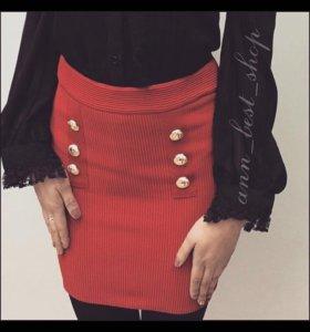 Новая юбка бордовая