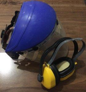 Защитная маска для лица и наушники противошумные