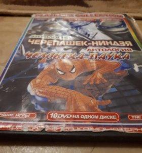 Черепашки ниндзя+человек паук