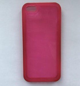 Чехол розовый iPhone 5/5s
