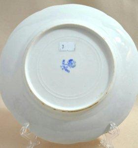 Тарелка кузнецовский фарфор