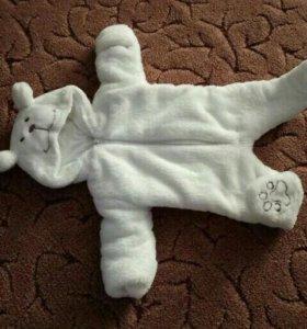 Плюшевый костюм мишка