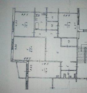 Квартира, 3 комнаты, 121 м²