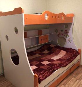 Детская двухъярусная (трёхъярусная) кровать