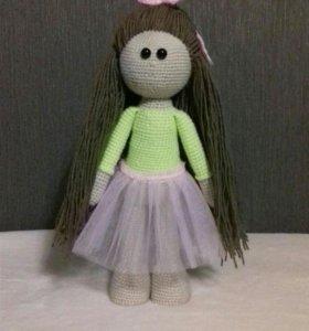 Вязаная кукла ручная работа 👐