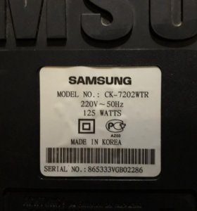 Телевизор samsung CK 720 WTR