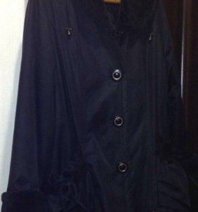 Куртка -плащ кожаный