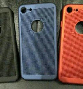 Чехол iPhone 7, 7+, 8, 8+, X с перфорацией