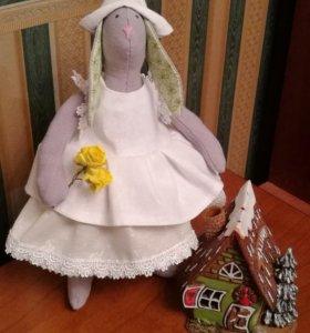 Кукла тильда-заяц