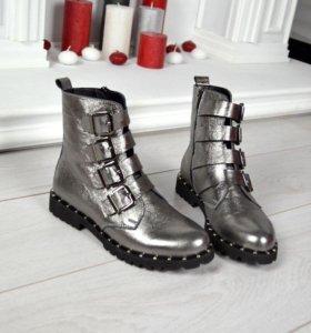 Демисезонные ботинки нат.кожа 36,37,38,39