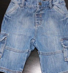 Шорты-бриджи джинсовые на 92