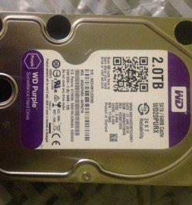Жесткий диск 2 тб HDD 2ТБ  (WD20purx )