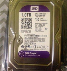 Жесткий диск 1 тб HDD 1ТБ  (WD10purx новый )