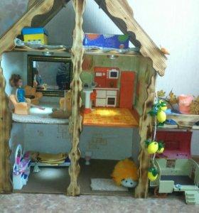 Кукольный дом ручной работы.