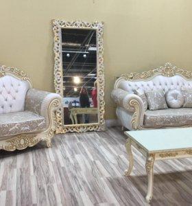 Комплект мебели Барокко беж слоновая кость