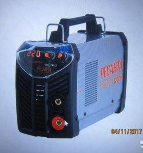 Новый. Сварочный аппарат инверторный Ресанта220 пн