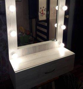 гримерное зеркало с ящиком