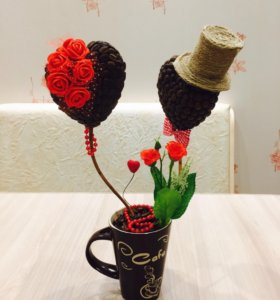 Топиарий к дню святого Валентина