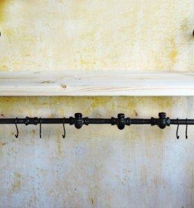 Полка-вешалка «Harborage» в стиле лофт