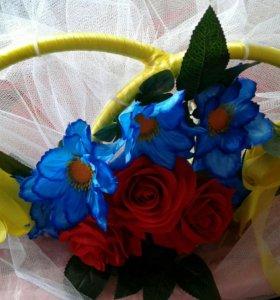 Кольца свадебные на авто жениха и невесты