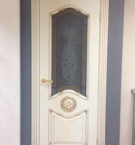 Межкомнатная дверь витраж