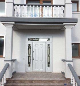 Входная дверь с витражами Тиффани