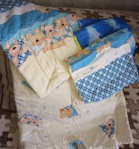 Детское одеяльце и 2 пододеяльника