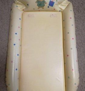Надувной пеленальный матрасик