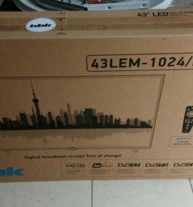 Светодиодный телевизор ВВК Диагональ 110 см, новый