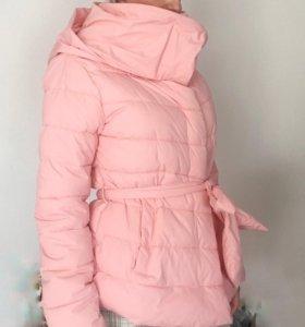 Пуховик/куртка розовая