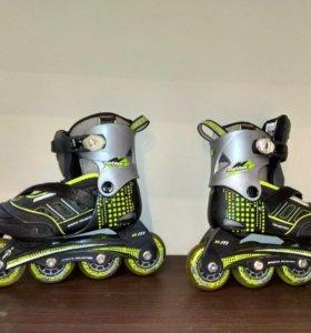 Детские роликовые коньки (зелёные)