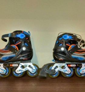 Детские роликовые коньки (синие)