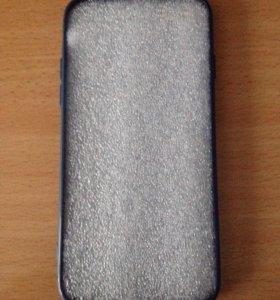 Чехол синий на iPhone 7