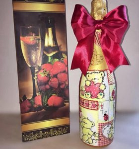 Декор бутылок для любимых