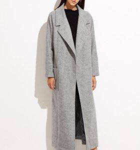 Серая пальто mango