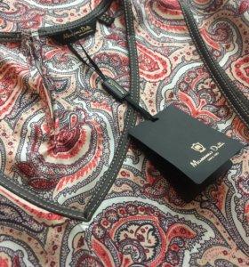Шёлковое платье Massimo Dutti
