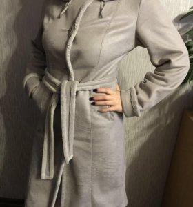 Демисезонное пальто-дублёнка