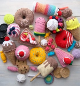 Сладости вязаные игрушки подарки ручной работы