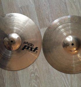 Тарелки для барабанов paiste pst 5 ( hi-hat,crash)