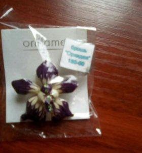 Брошь Орхидея