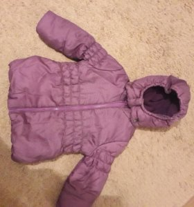 Теплая демисезонная куртка р. 104