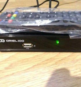 DVB-T2 ТВ приставка Oriel100, 20 цифровых каналов