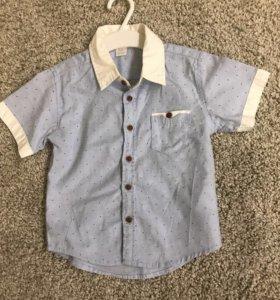 Рубашка в мелкую цветную точку