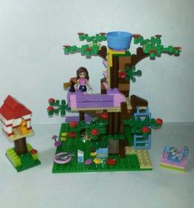 Лего френдс Оливия и домик на дереве