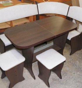 Кухонный уголок с раскладным! столом