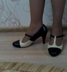 Туфли кожаные besmoda 39 р-р