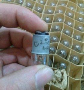 Лампочки рудничные 3,75в+0.5А